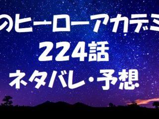 ヒロアカネタバレあらすじ224話「」